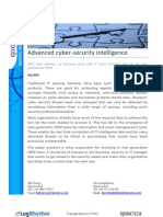 Advanced cyber-security intelligence