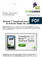 NR Card™ Transforms your Nook™ into an Android Tablet