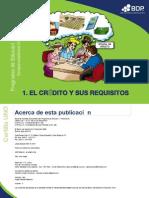 El crédito y sus requisitos (cart. UNO)