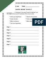 3rd Grade | Scientific Method Worksheet