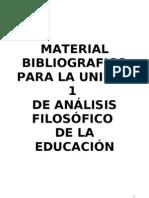 Material Bibliográfico Unidad 1 - Análisis Filosófico