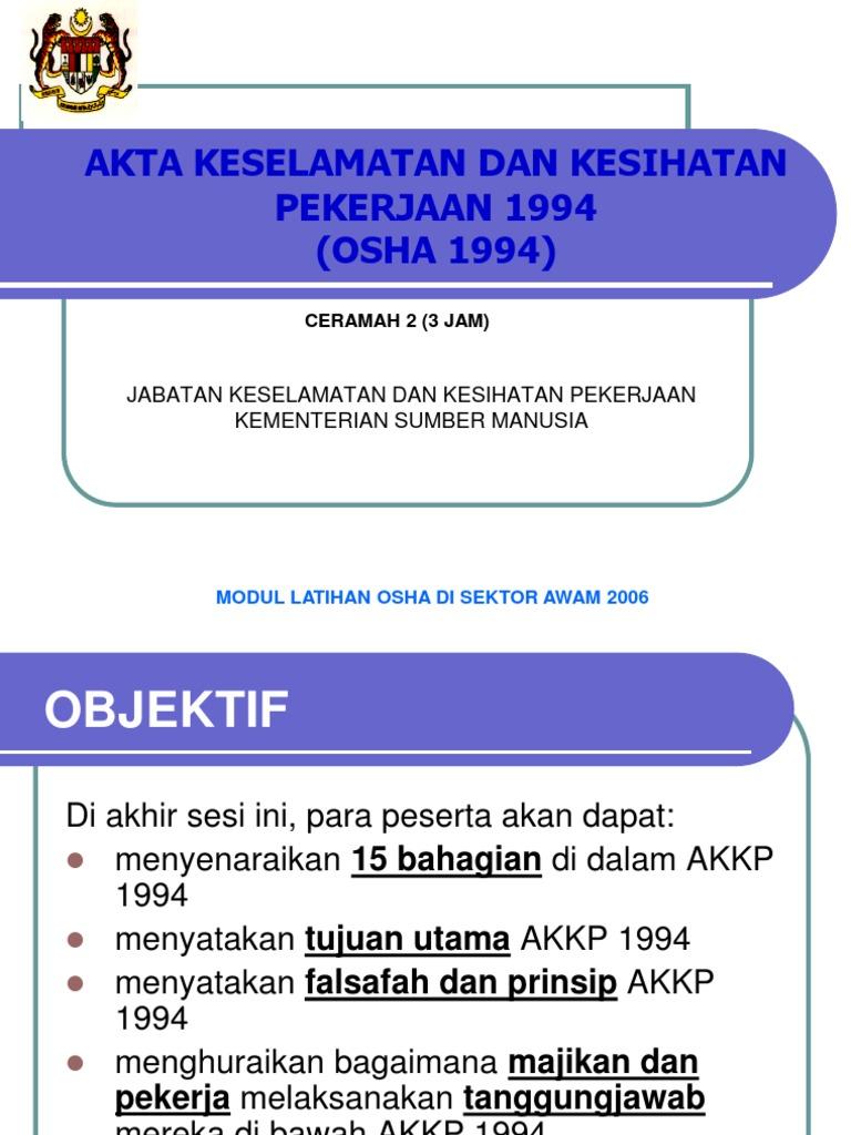 Ilbs Akta Keselamatan Dan Kesihatan Pekerjaan 1994 Akta 514 Bukuboy Malaysia