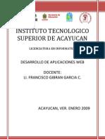 Antologia Desarrollo de Aplicaciones WEB Unidad I