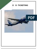 Online E- Ticketing Report