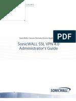 SonicWALL SSLVPN 4.0 Administrators Guide