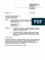 Palisades - Reply to Request for Additional Information Re Relief Request - Proposed Alternative - Use of Alternate ASME Code Case N-770-1 Baseline Examination.