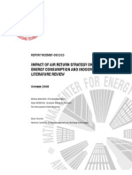 Bahnfleth W Impact of Return Air Strategy Literature Review NCEMBT-081010