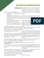 Bearbeitungsbedingungen, 2. Aktualisierte Version, Juli 2012