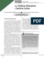 Reformas y Politicas Educativas en America Latina