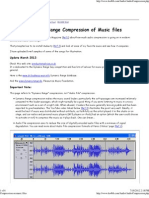Compression on Music Files