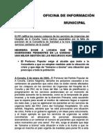 El PP de A Coruña muestra su preocupación por la situación de la Sanidad Pública