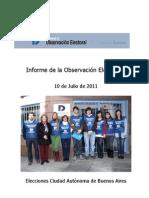 Observación Electoral Elecciones Jefe de Gobierno Ciudad de Buenos Aires