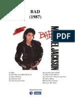 Michael Jackson- Bad- Şarkı Sözleri Kitabı (Türkçe)