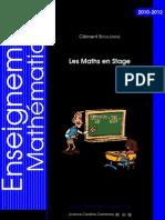 Les Maths en Stage