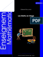 Les Maths en Stage