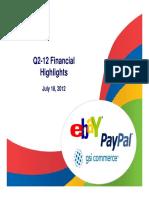 eBay Q2 Earnings