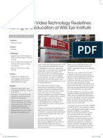 Sony Medical Video Technology Re-defines Training and Education at Wills Eye Institute