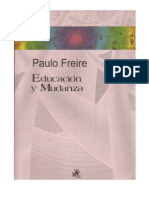 """Sociedad, educación y concientización. Presentación de Marcel Arvea al libro """"Educación y Mudanza"""" de Paulo Freire"""