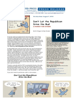 Don't Let the Republican Drive the Bus Press Release