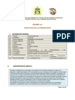 SÍLABO 2012 - Sociología de la Comunicación. UTB-Ecuador