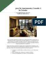 Antes de Comprar Su Apartamento Consulte a Un Tasador