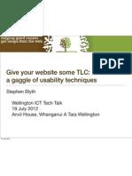 Give your website some TLC presentation, 19 July 2012