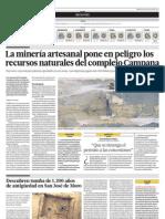 La minería informal pone en peligro los recursos naturales del complejo Campana