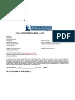 Ficha Modelo de Datos Personales Miembros SAFEMI