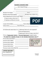 Concordia Barcode Form