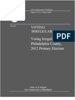Voting Irregularities Report