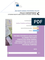 European Parliament Study on the Social Use of Confiscated Assets