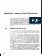 Lateral Earth Pressure - Curved Surface