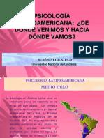 PSICOLOGÍA LATINOAMERICANA, DE DÓNDE VENIMOS Y HACIA DONDE VAMOS