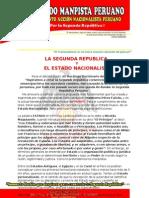 La Segunda Republica y El Estado Nacionalista[1]