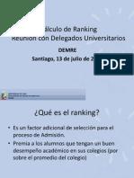 Procedimientos de Cálculo de Ranking DEMRE versión 13 de julio