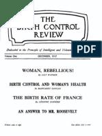 Margaret Sanger's Birth Control Review December 1917