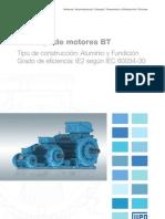 WEG Catalogo de Motores Bt Tipo de Construccion Aluminio y Fundicion 50033157 Catalogo Espanol