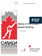 Status of the Coach Speed Skating