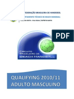 Relatorio Final Qualifying Adulto Masculino 2010