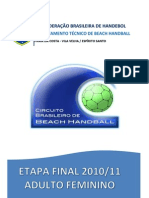 Relatorio-CB Beach Handball Fem 2010-11