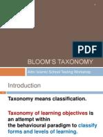 BLOOM'S TAXONOMY [FINAL VERSION]