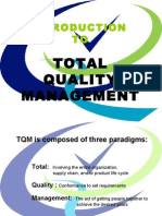 Intro to TQM - Basic Elements