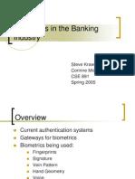 Biometrics Banking Industry