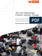 The Last Outsourcing Frontier Software Testing