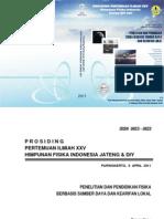 Prosiding Pertemuan Ilmiah HFI-Jateng2011 - Fisika UNSOED
