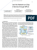 Improvement the Network-on-Chip Quality-of-Service through MPLS