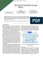Survey the QOS of Fat-Tree-NOC through MPLS