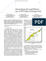 Effect of Different Queue Size and Different Propagation Delay of TCP Tahoe in Hexagon NoC