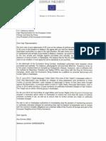 Letter To Catherine Ashton