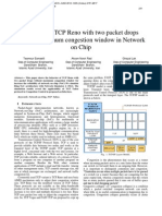 Analysis of TCP Reno with two packet drops without maximum congestion window in Network on Chip